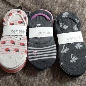 Kensie liner socks. 3 packs of 5 pairs each